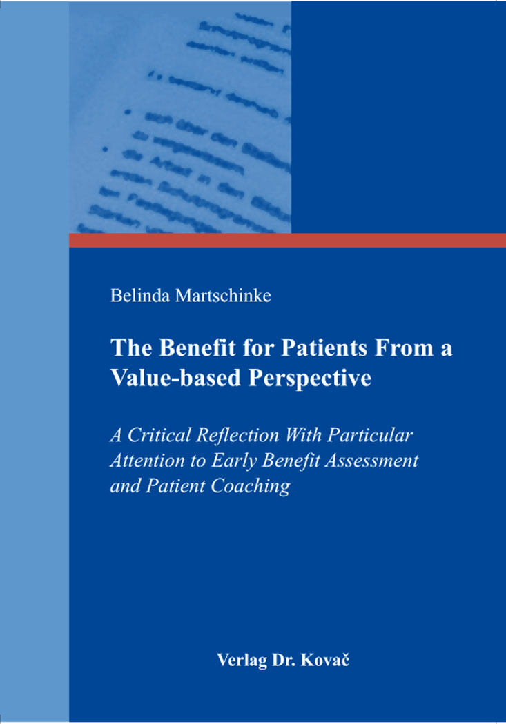 Cover: The Benefit for Patients From a Value-based Perspective