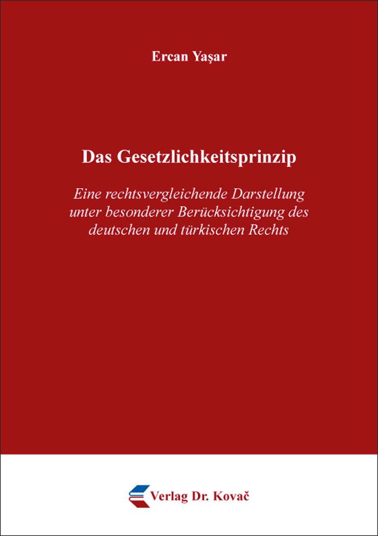 Cover: Das Gesetzlichkeitsprinzip