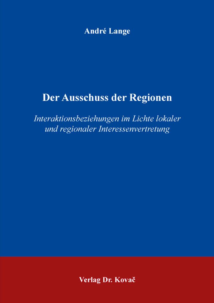 Cover: Der Ausschuss der Regionen