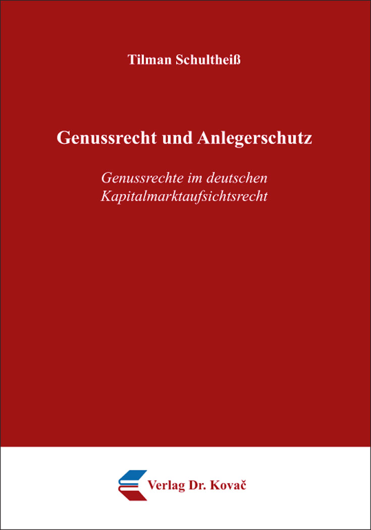 Cover: Genussrecht und Anlegerschutz