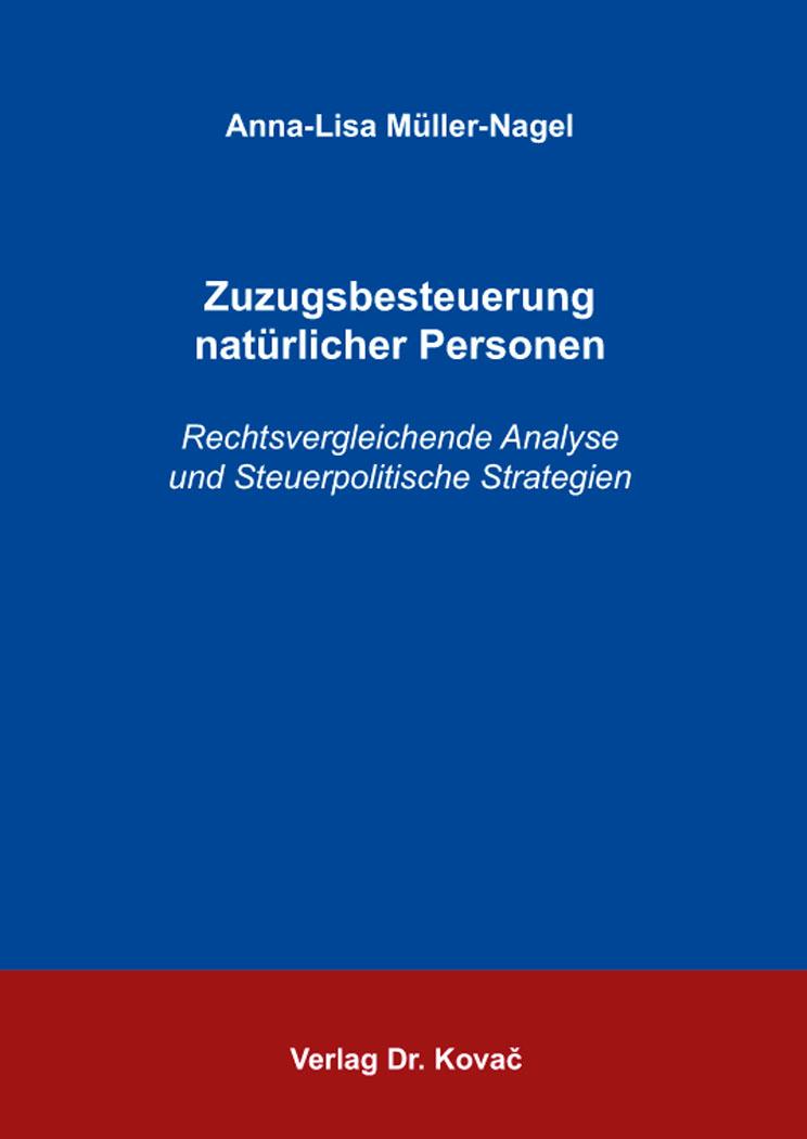 Cover: Zuzugsbesteuerung natürlicher Personen