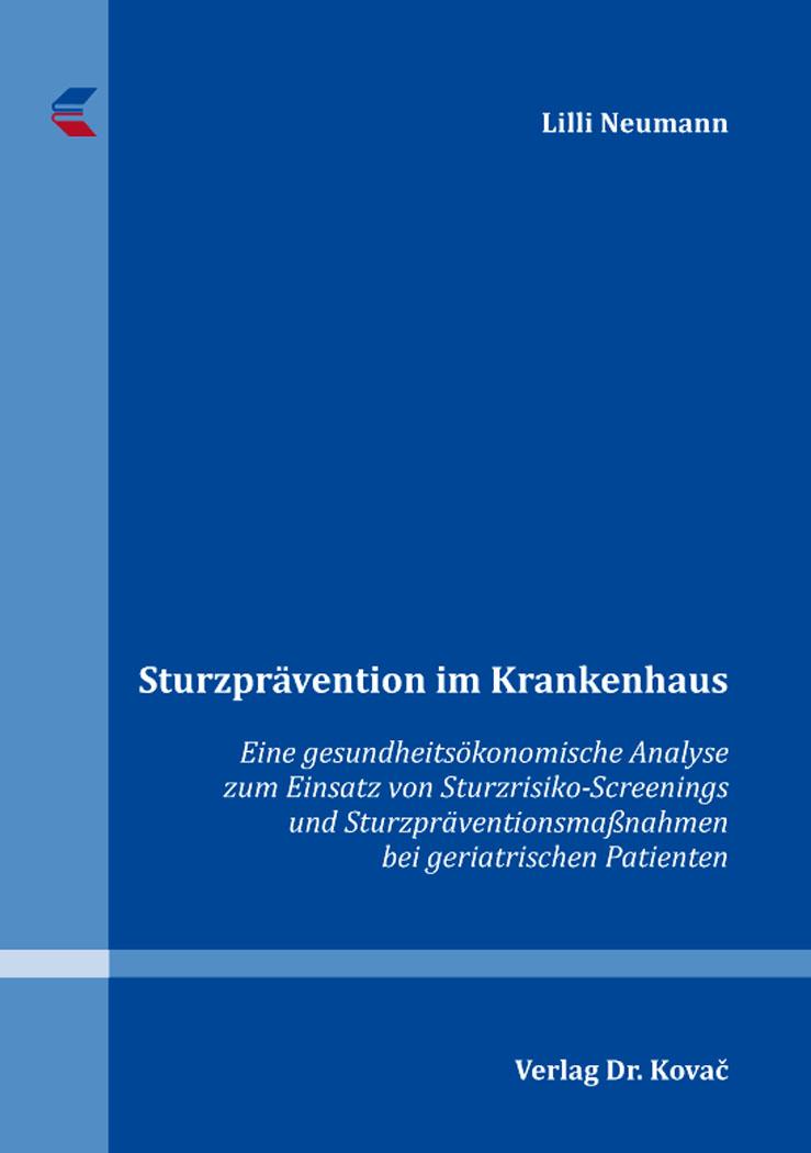 Cover: Sturzprävention im Krankenhaus