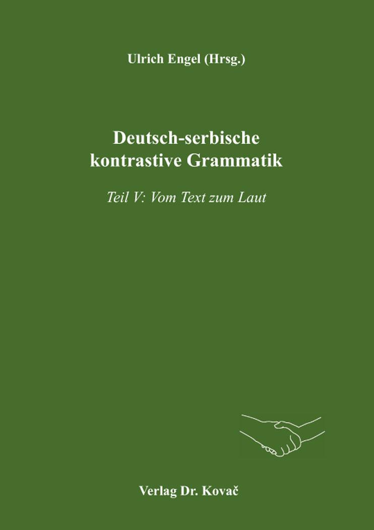 Cover: Deutsch-serbische kontrastive Grammatik