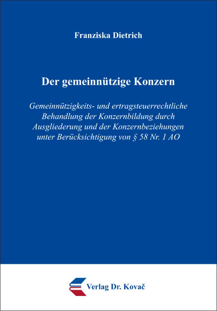Cover: Der gemeinnützige Konzern