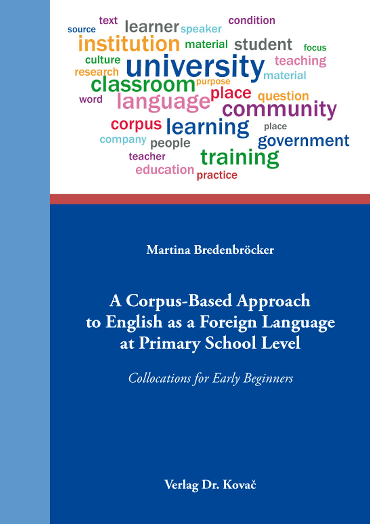 Cover: A Corpus-Based Approach to English as a Foreign Language at Primary School Level