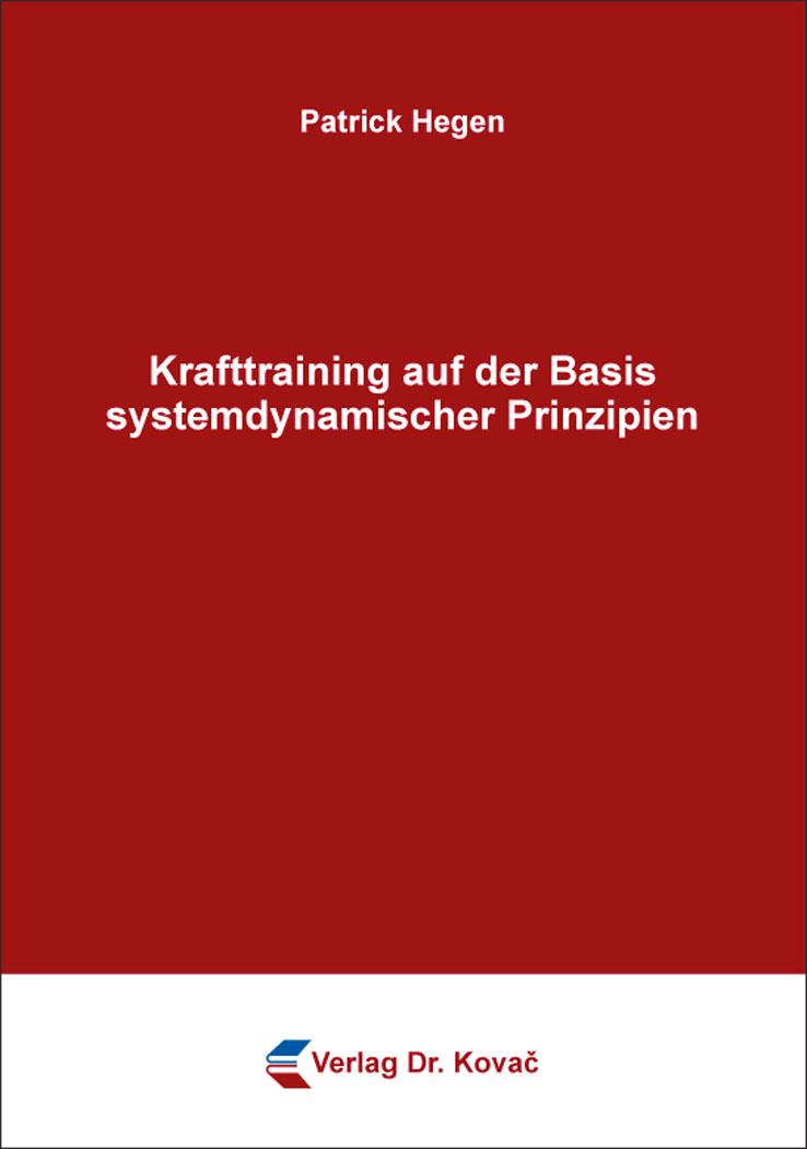 Cover: Krafttraining auf der Basis systemdynamischer Prinzipien