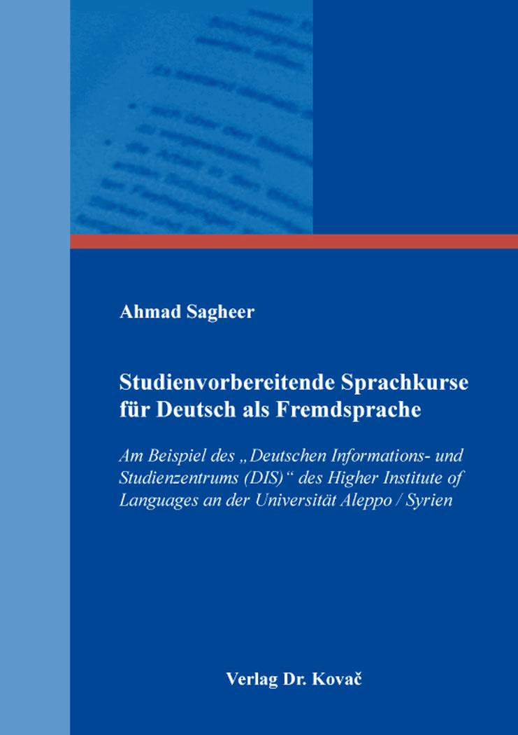 Cover: Studienvorbereitende Sprachkurse für Deutsch als Fremdsprache