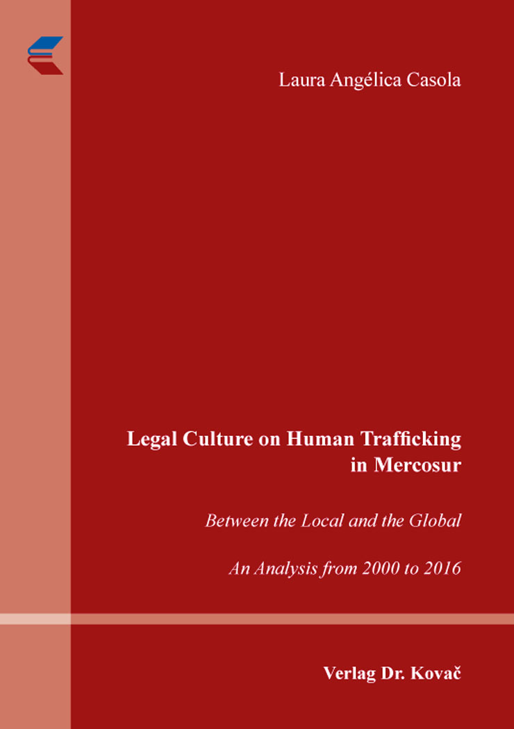 Cover: Legal Culture on Human Trafficking in Mercosur