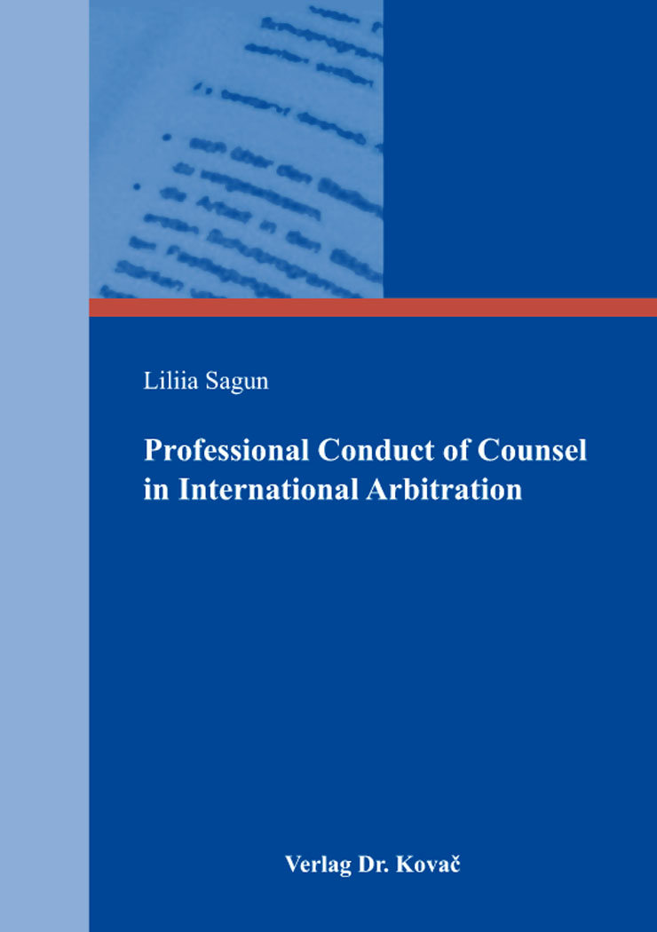 Cover: Professional Conduct of Counsel in International Arbitration