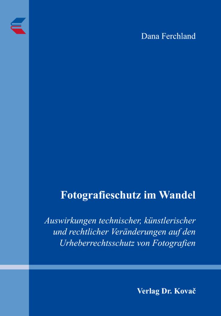 Cover: Fotografieschutz im Wandel