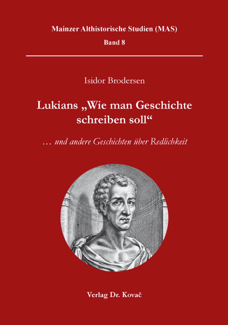 """Cover: Lukians """"Wie man Geschichte schreiben soll"""""""
