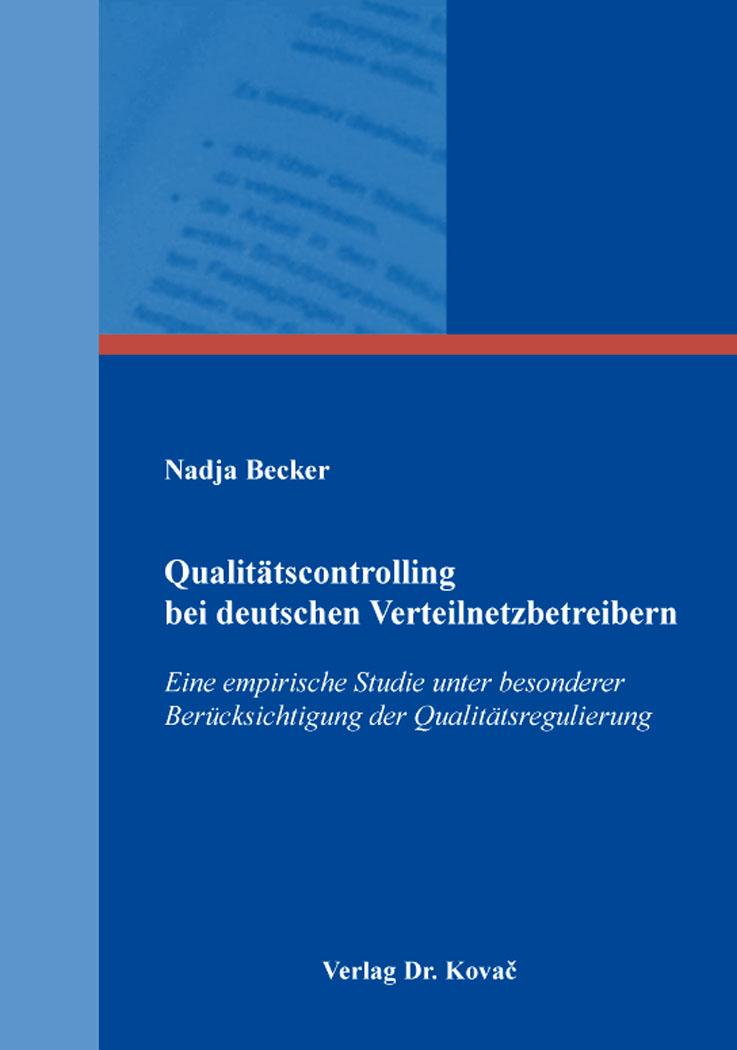 Cover: Qualitätscontrolling bei deutschen Verteilnetzbetreibern