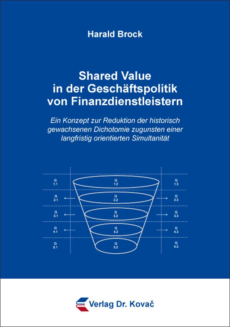 Cover: Shared Value in der Geschäftspolitik von Finanzdienstleistern