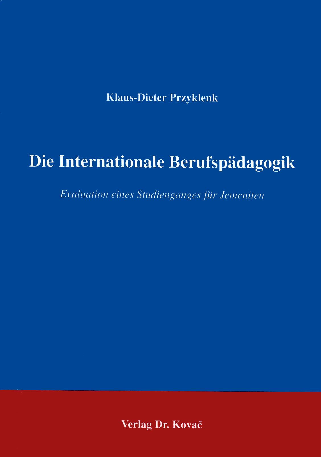 Cover: Die Internationale Berufspädagogik