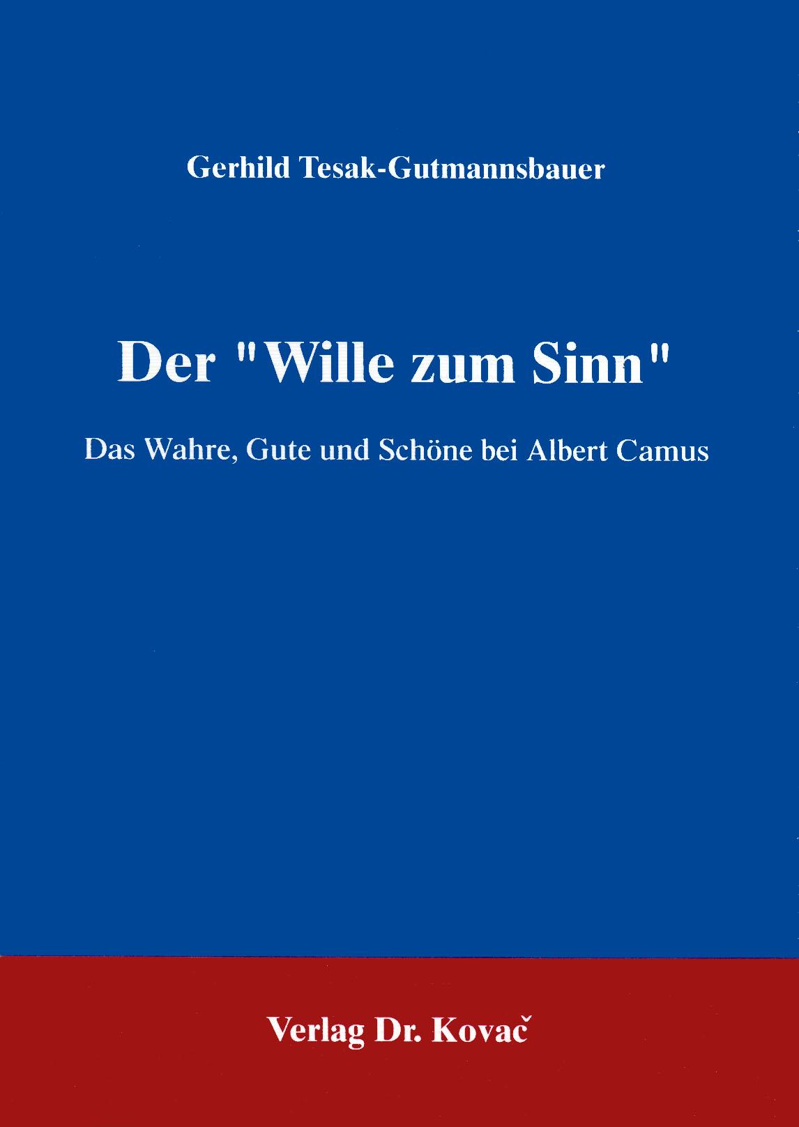"""Cover: Der """"Wille zum Sinn"""""""