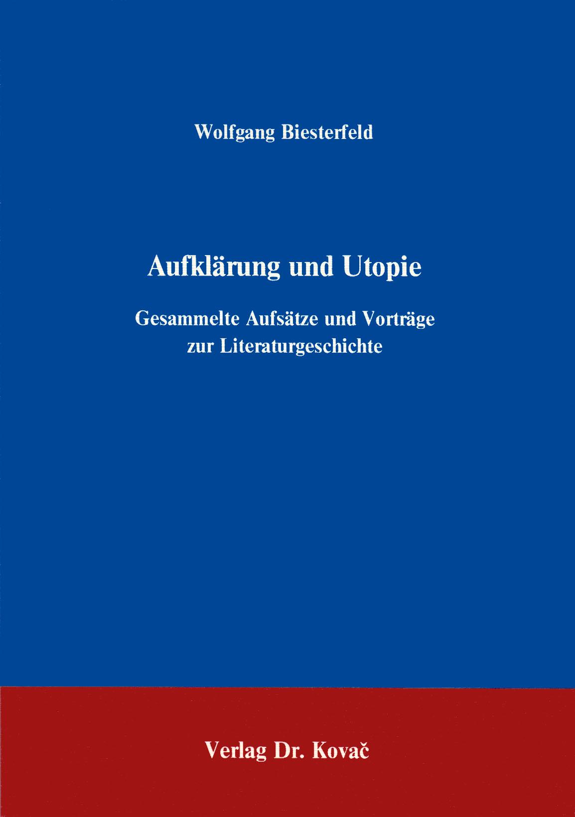 Cover: Aufklärung und Utopie, 2. Aufl.