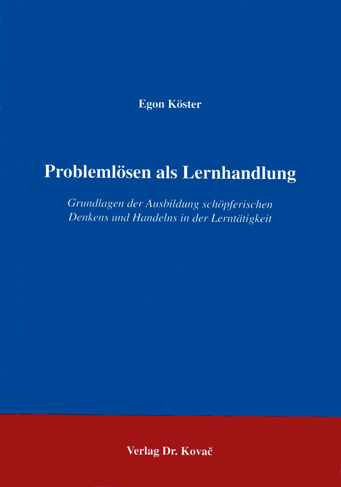 Cover: Problemlösen als Lernhandlung