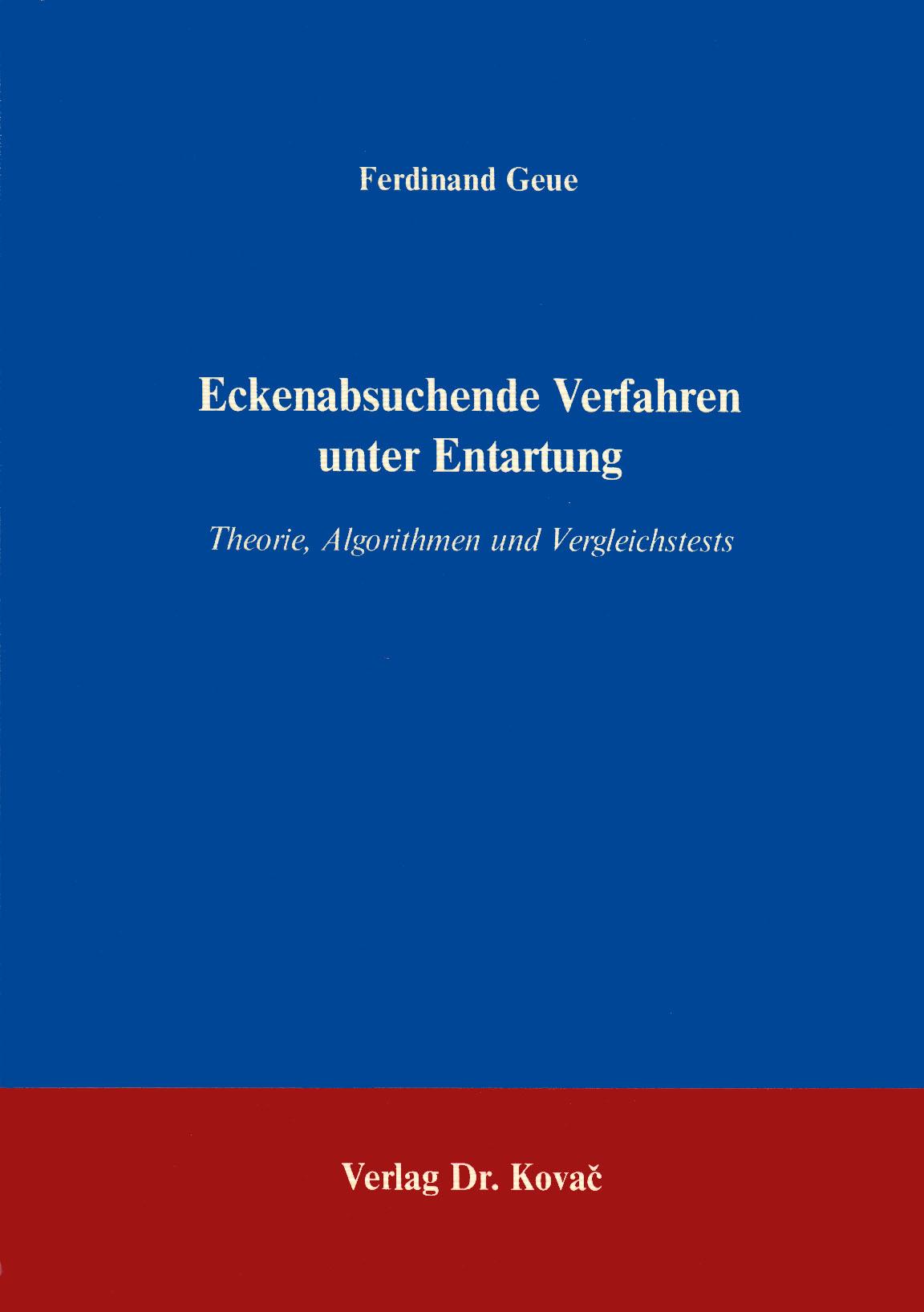 Cover: Eckenabsuchende Verfahren und Entartung
