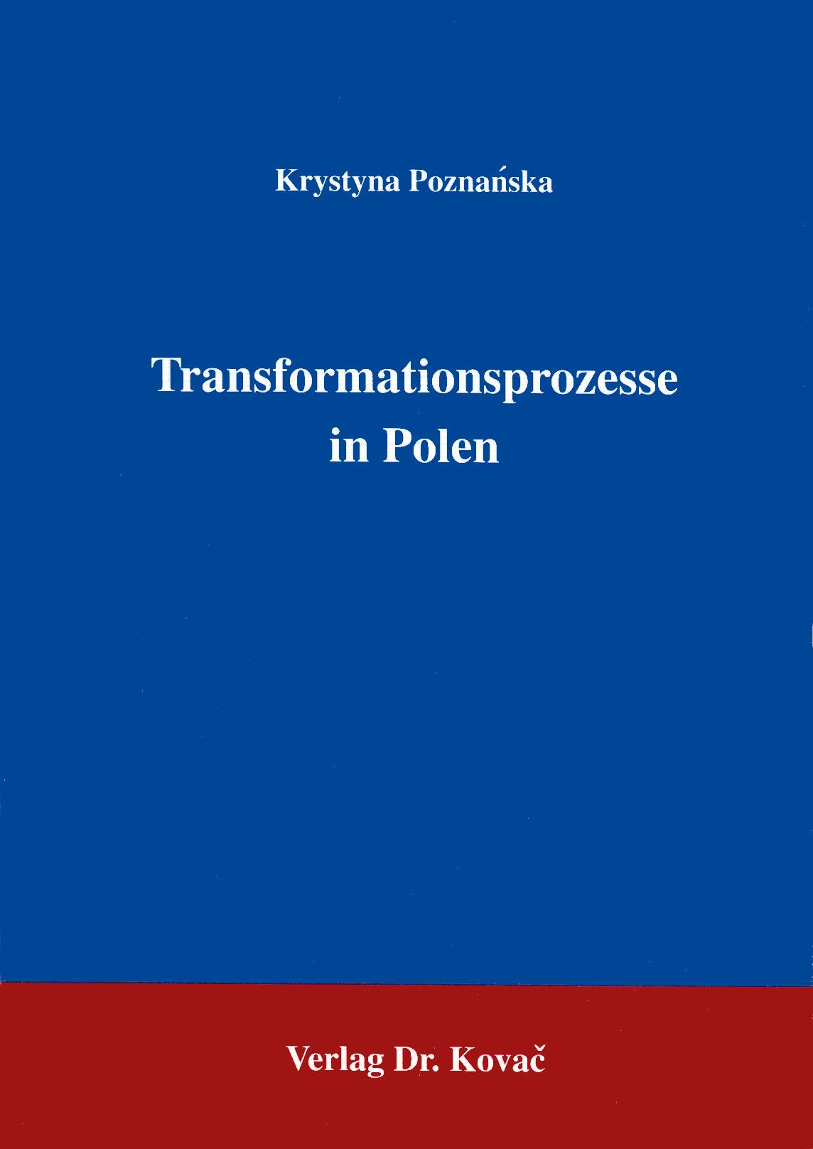 Cover: Transformationsprozesse in Polen