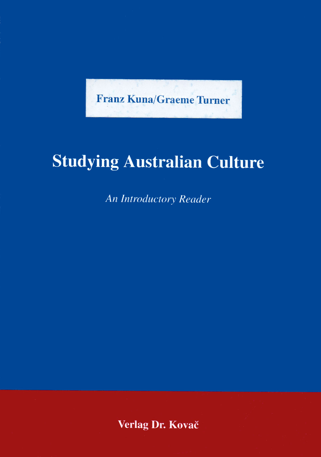 Cover: Studying Australian Culture
