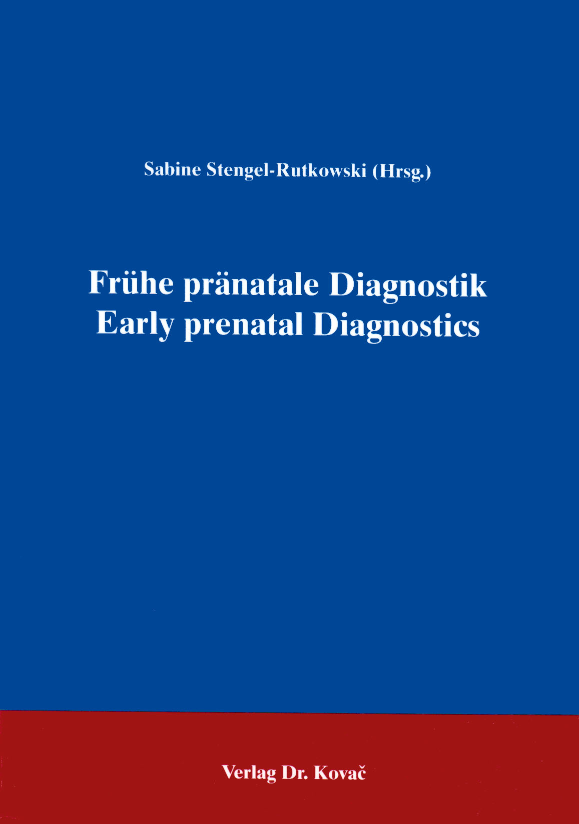 Cover: Frühe pränatale Diagnostik