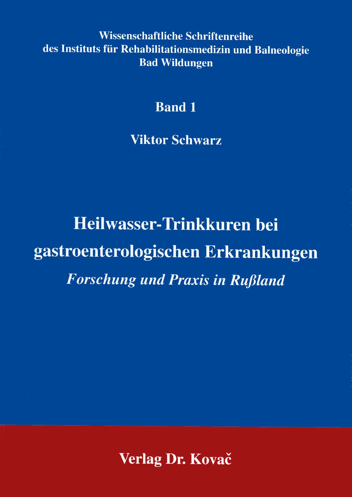 Cover: Heilwasser-Trinkkuren bei gastroenterologischen Erkrankungen