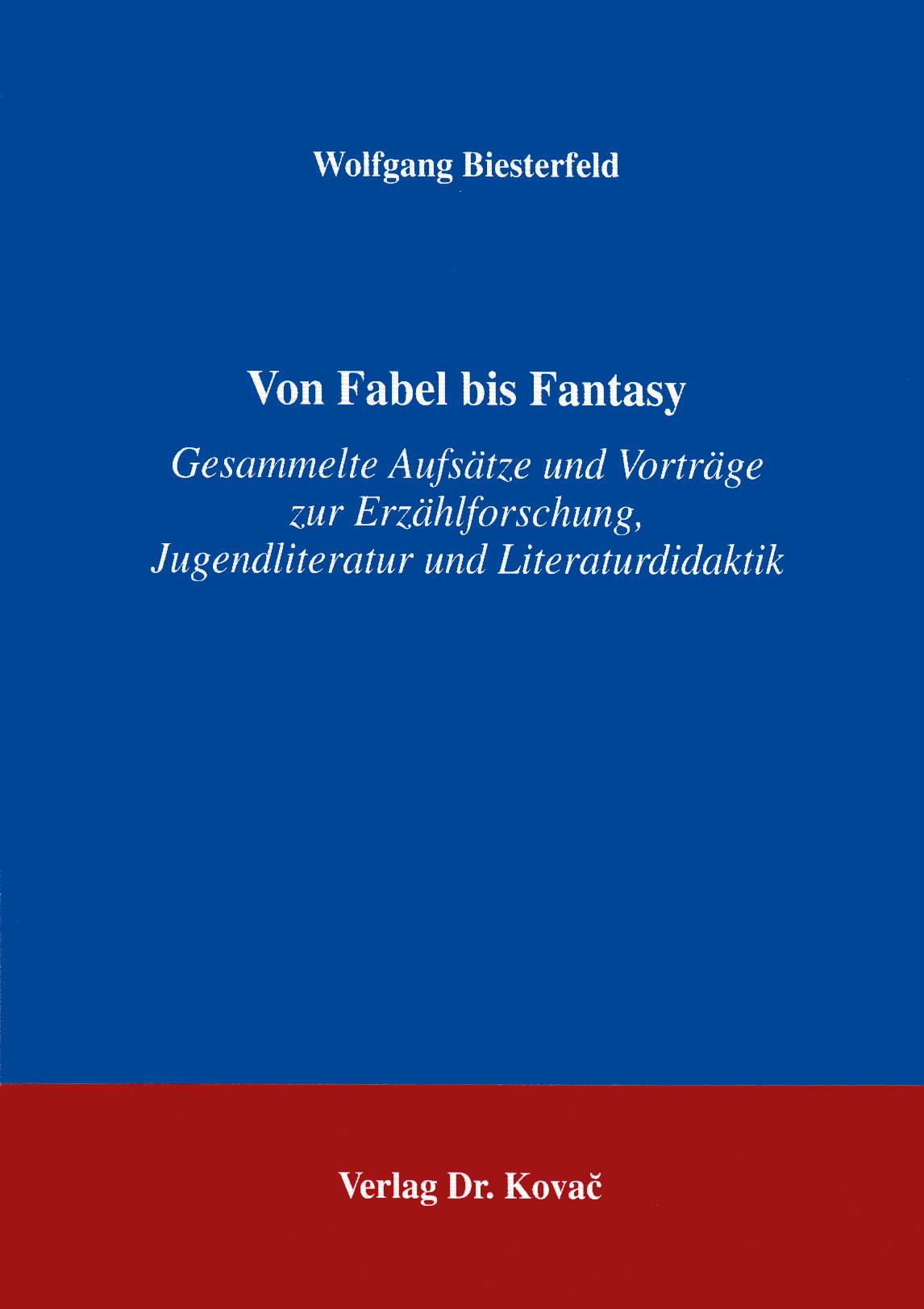 Cover: Von Fabel bis Fantasy