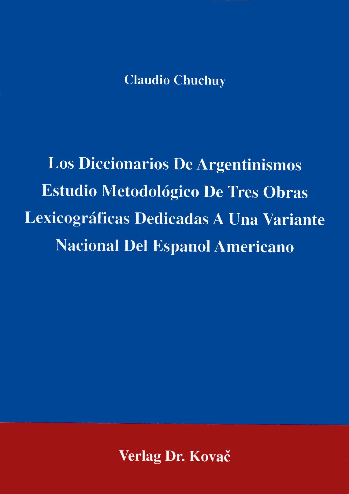 Cover: Argentinismen-Wörterbuch