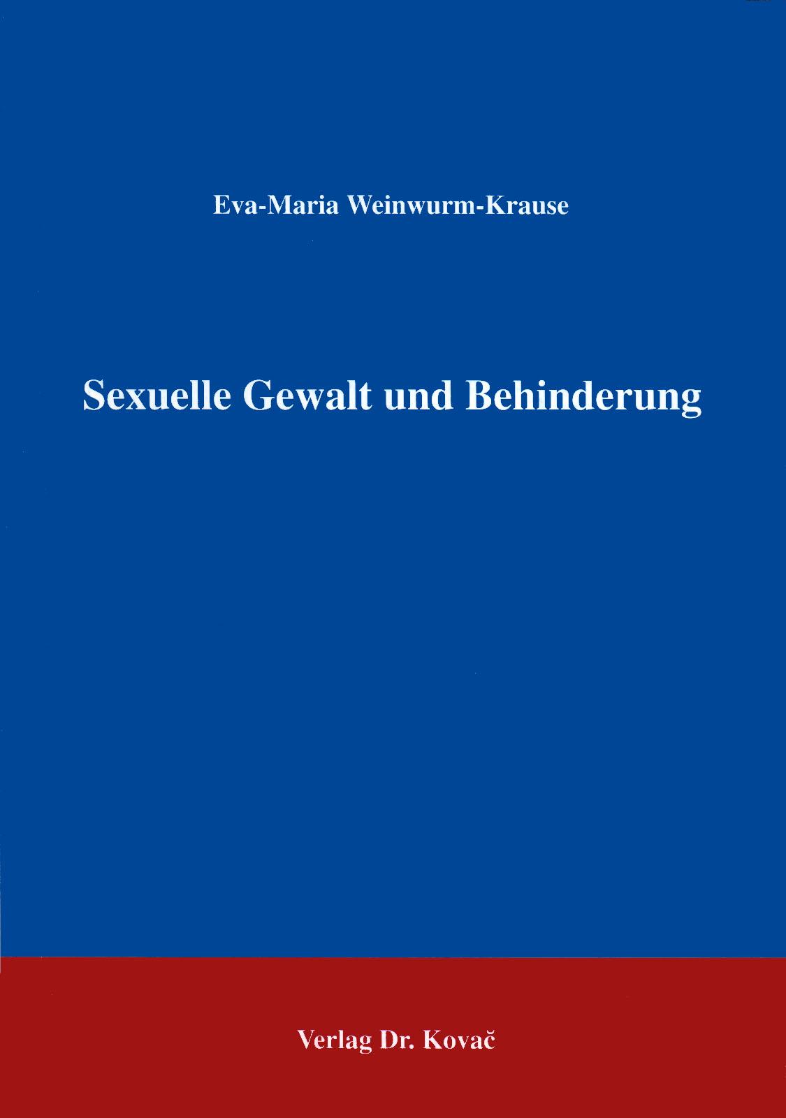Cover: Sexuelle Gewalt und Behinderung