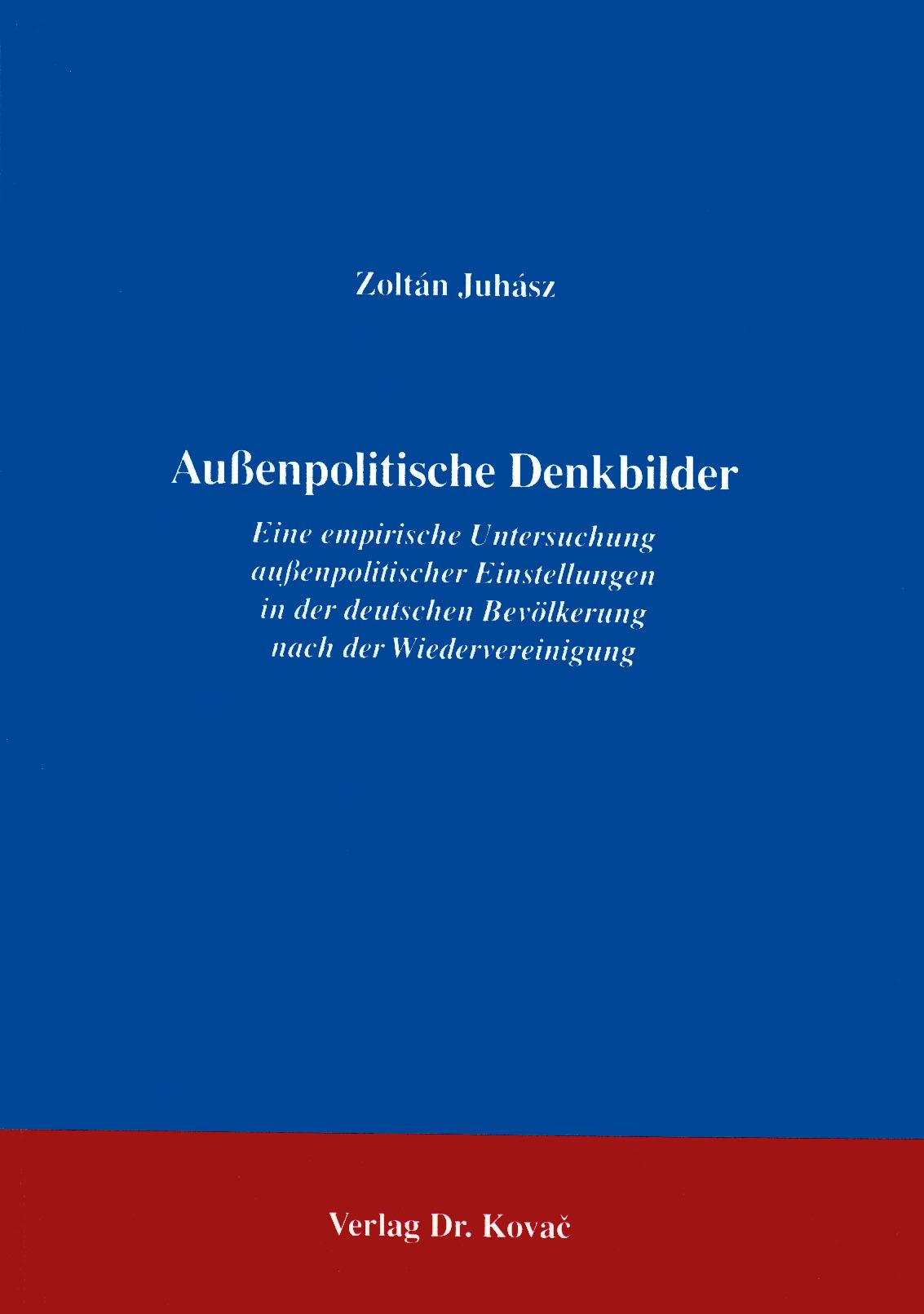 Cover: Außenpolitische Denkbilder