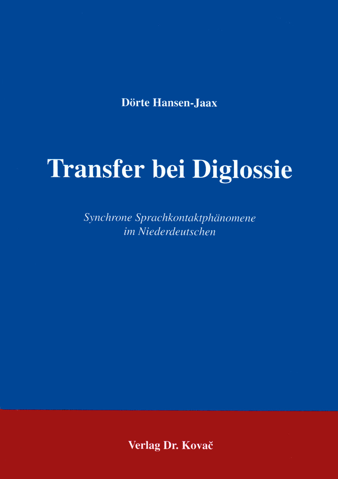 Cover: Transfer bei Diglossie