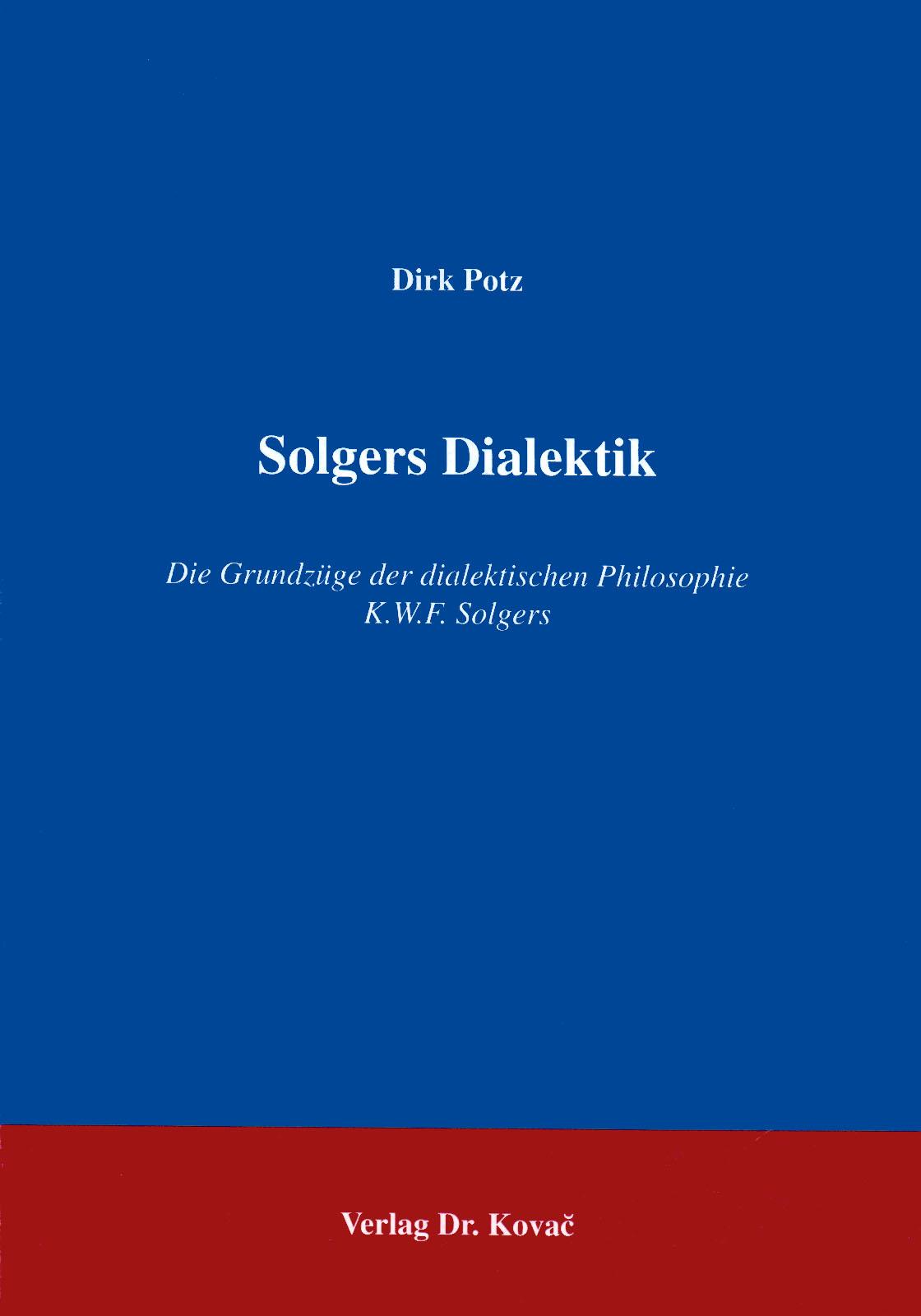 Cover: Solgers Dialektik