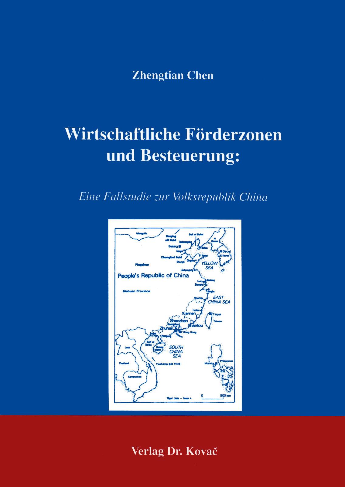 Cover: Wirtschaftliche Förderzonen und Besteuerung