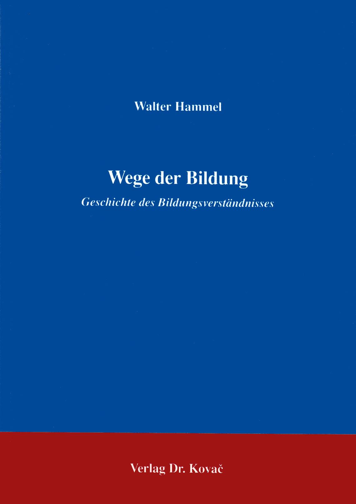 Cover: Wege der Bildung