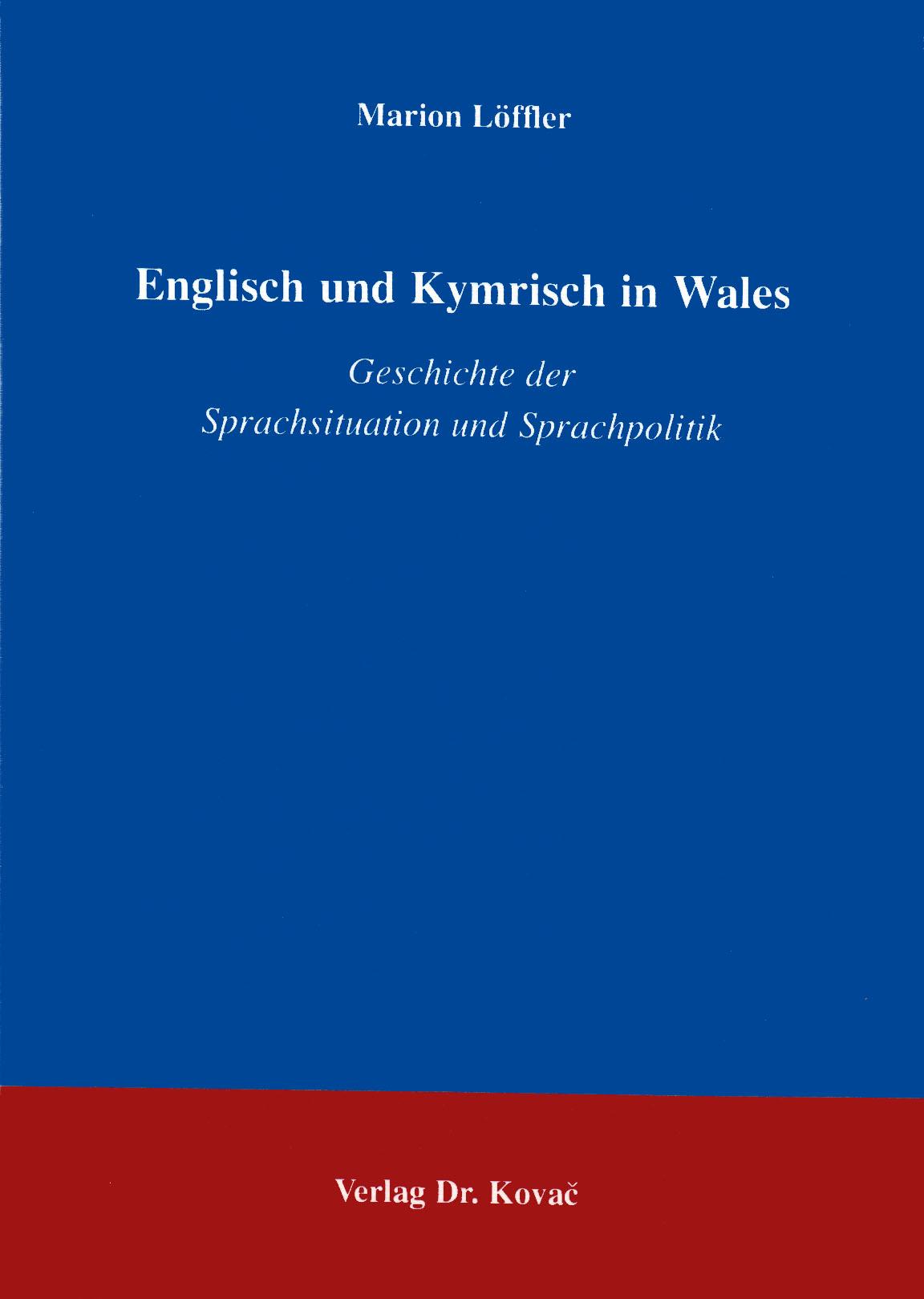 Cover: Englisch und Kymrisch in Wales