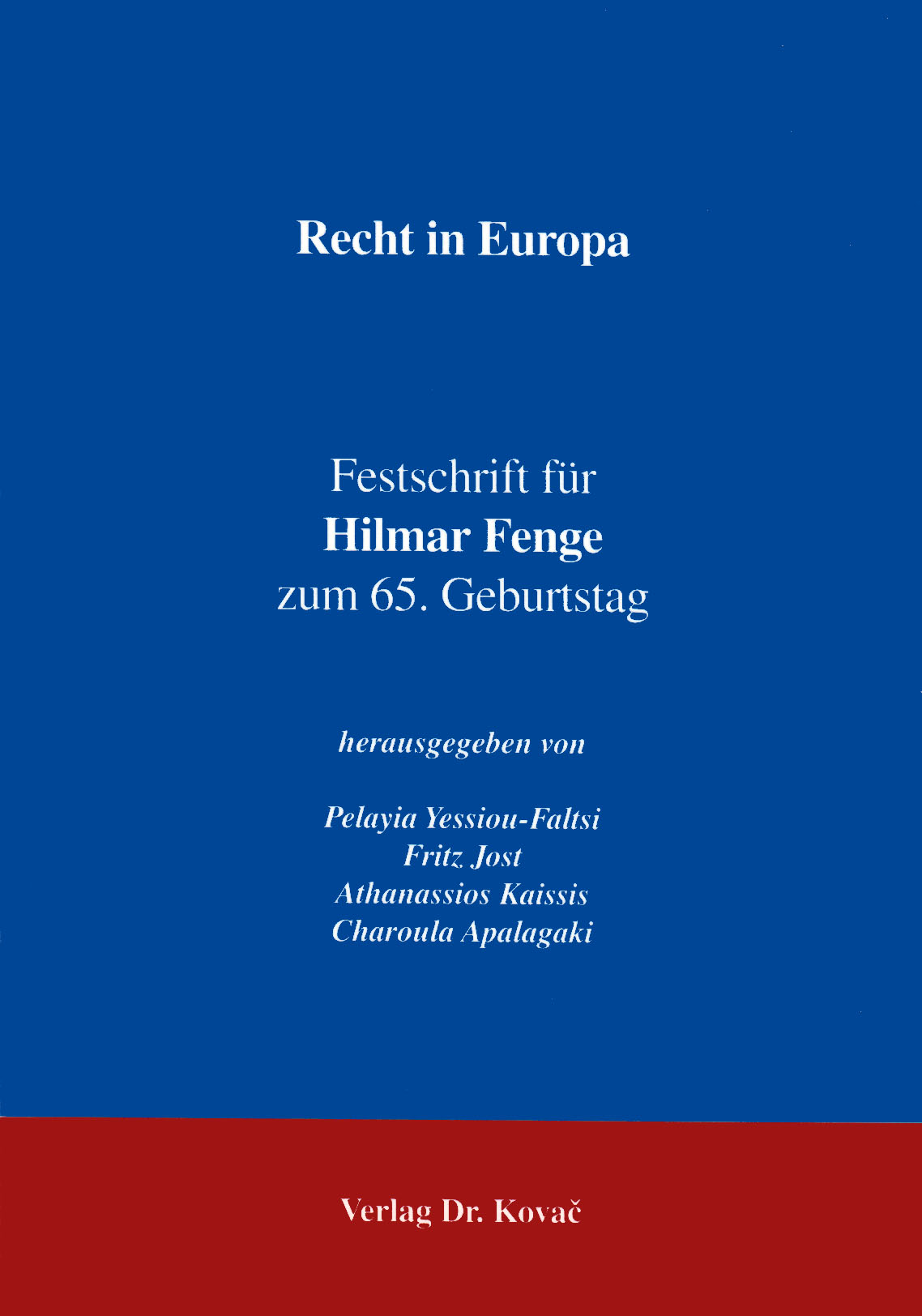 Cover: Recht in Europa