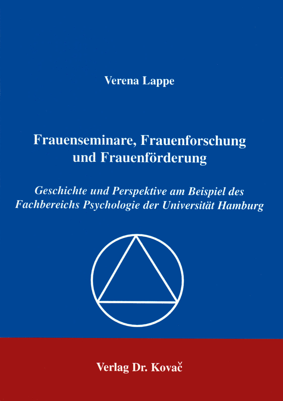 Cover: Frauenseminare, Frauenforschung und Frauenförderung