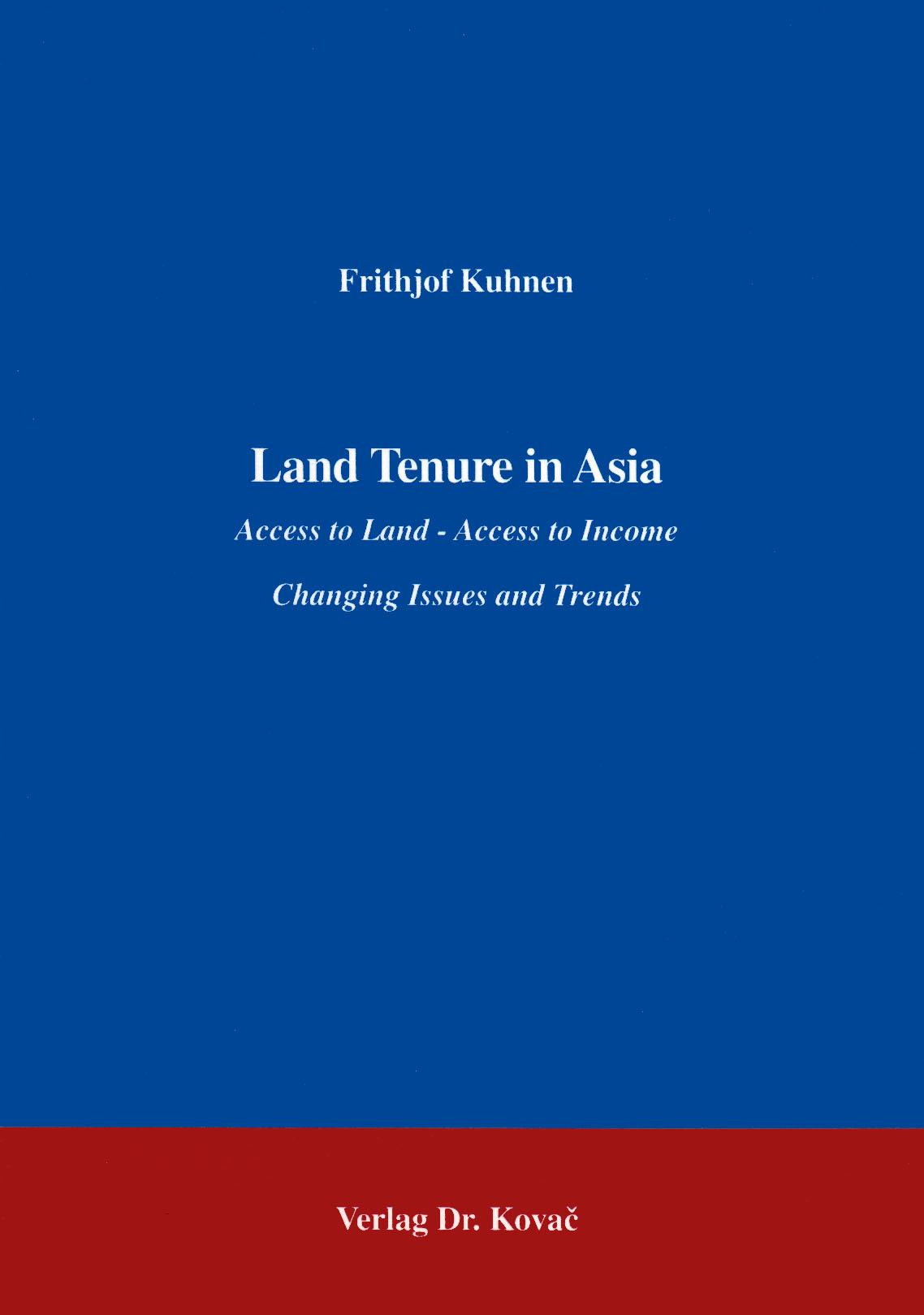 Cover: Land Tenure in Asia