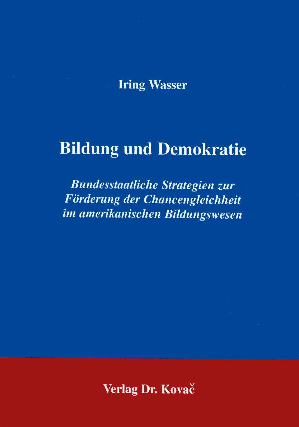 Cover: Bildung und Demokratie