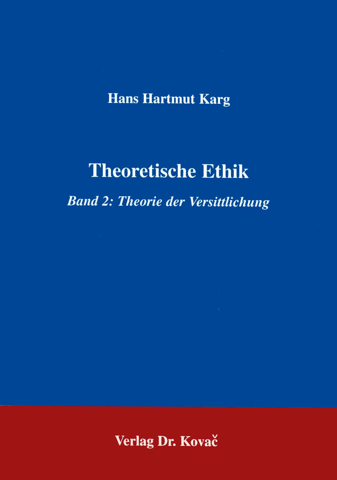 Cover: Theoretische Ethik