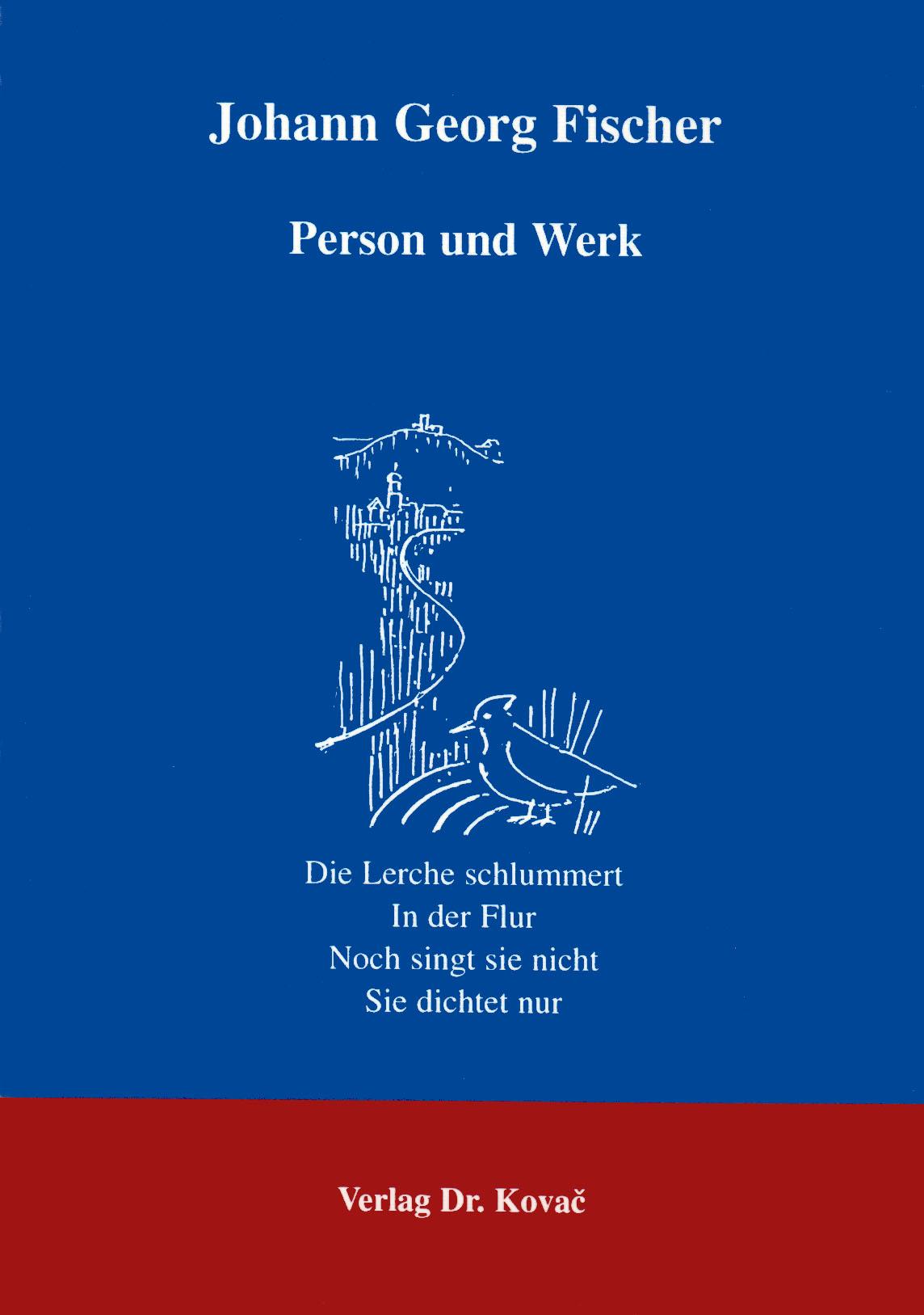 Cover: Johann Georg Fischer