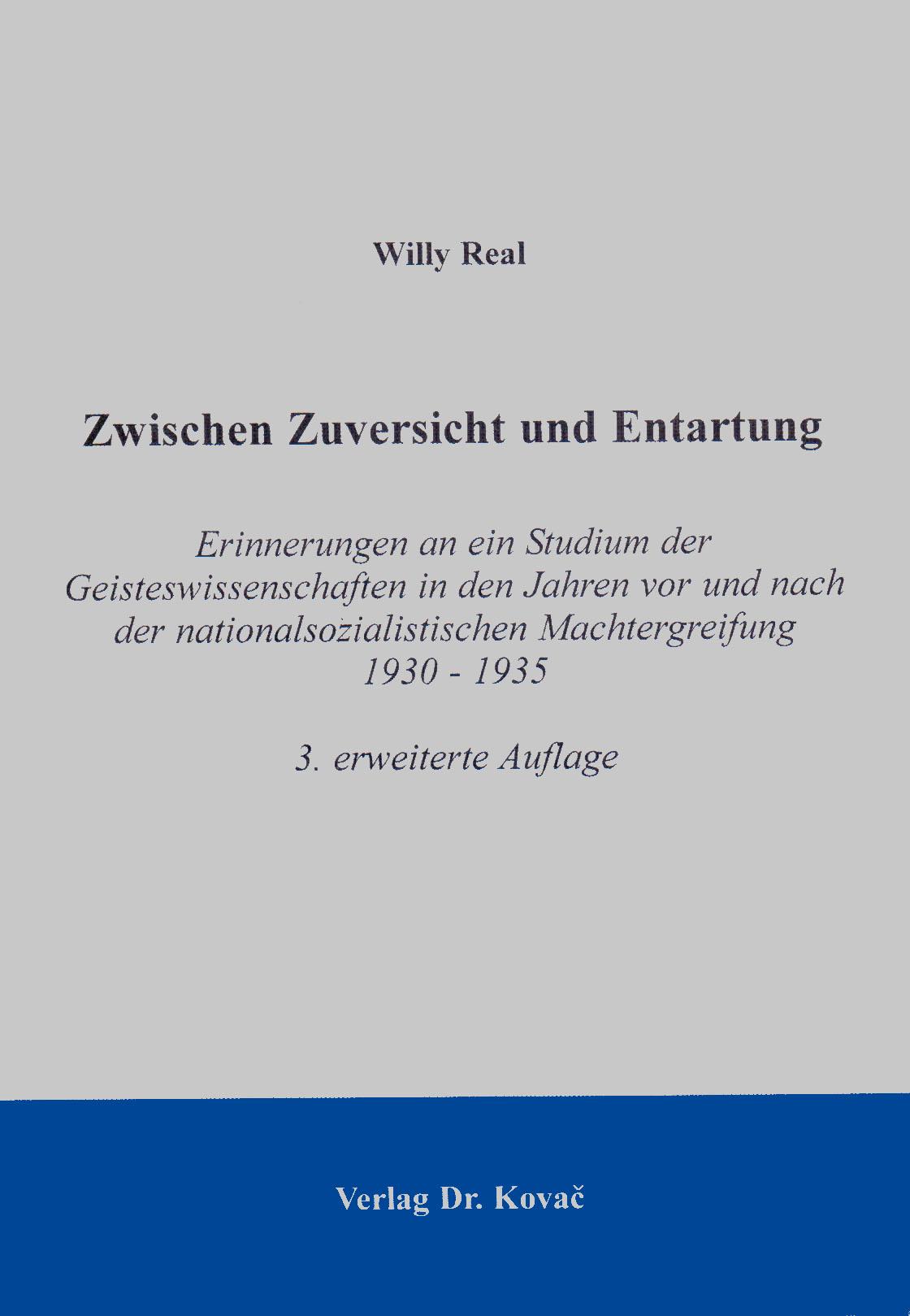 Cover: Zwischen Zuversicht und Entartung