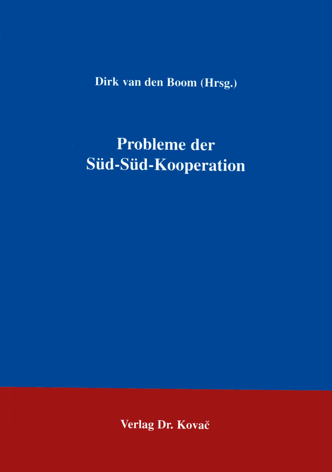 Cover: Probleme der Süd-Süd-Kooperation