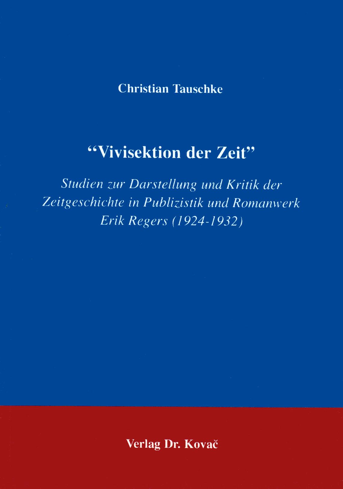 Cover: Vivisektion der Zeit