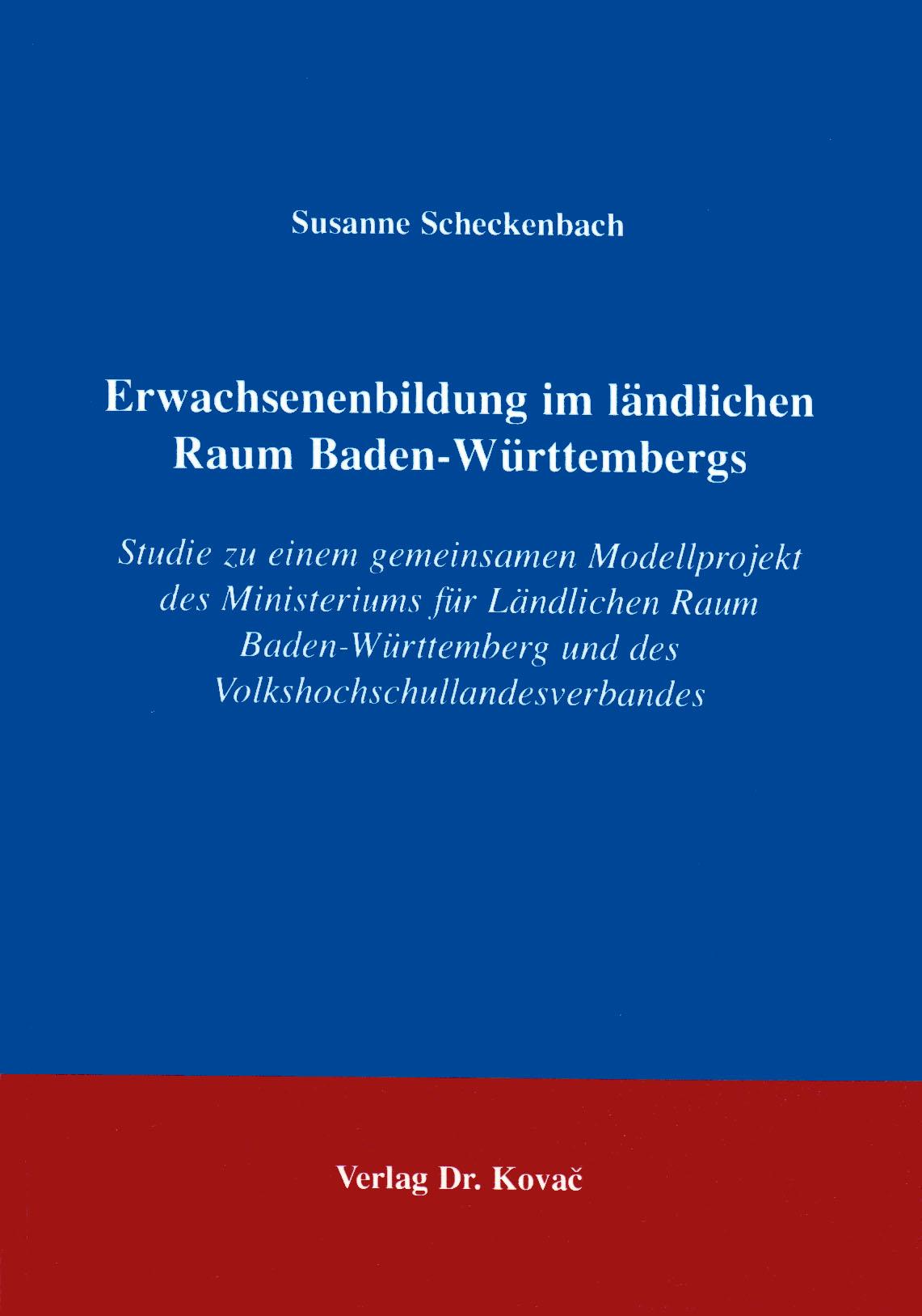 Cover: Erwachsenenbildung im ländlichen Raum Baden-Württembergs
