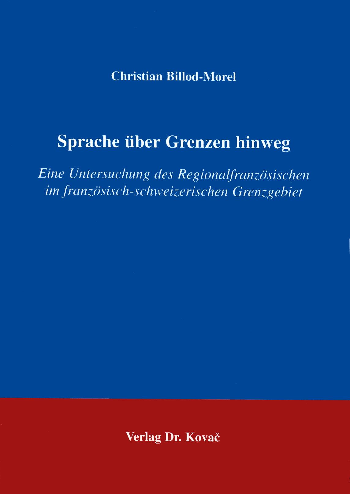 Cover: Sprache über Grenzen hinweg