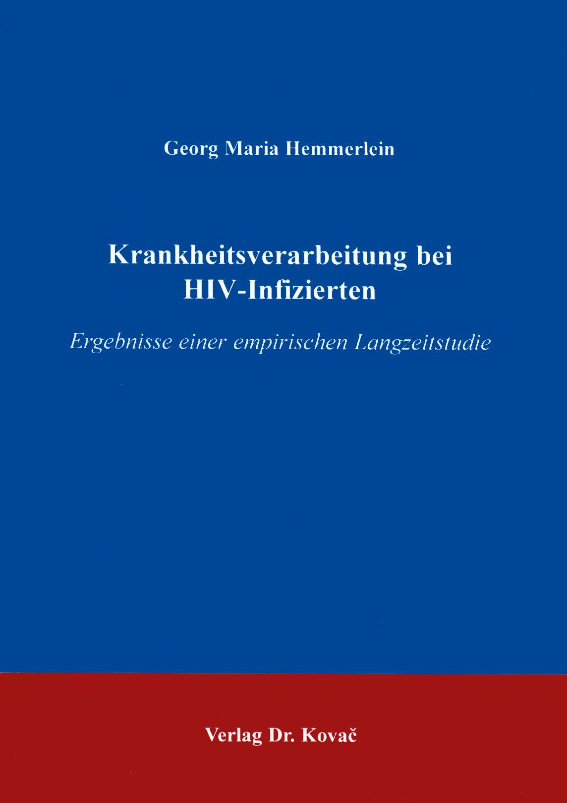Cover: Krankheitsverarbeitung bei HIV-Infizierten