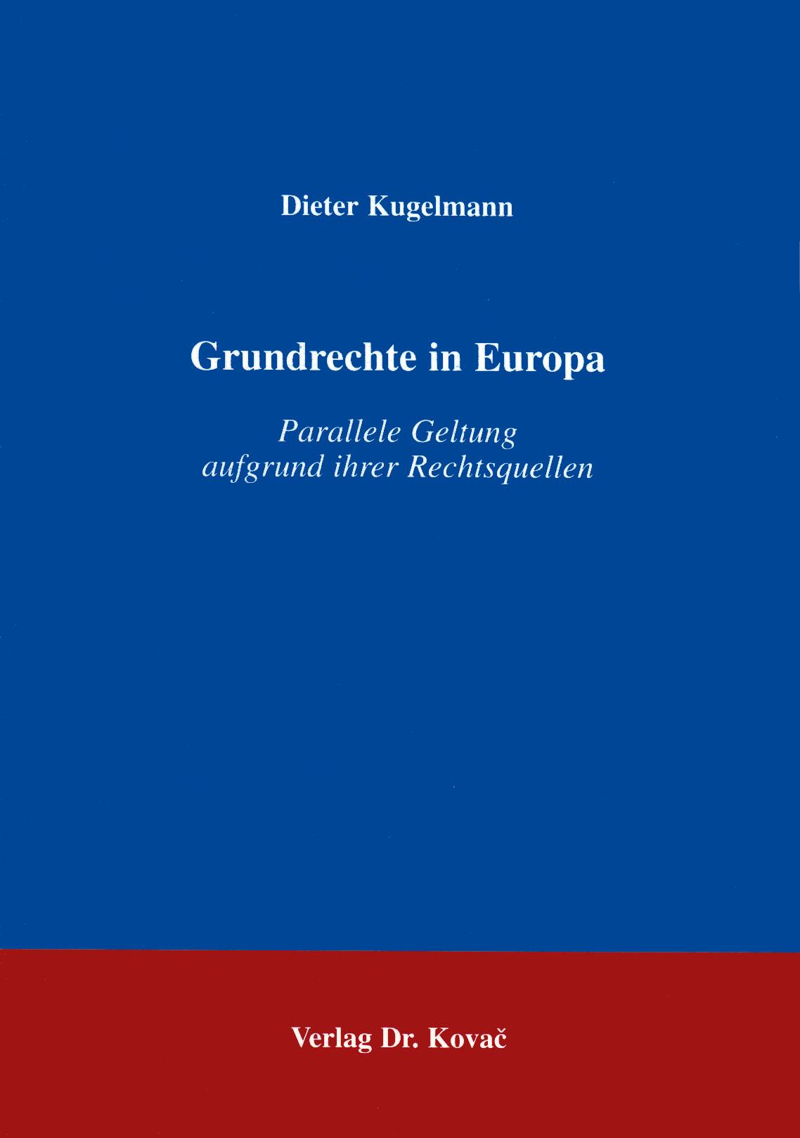 Cover: Grundrechte in Europa