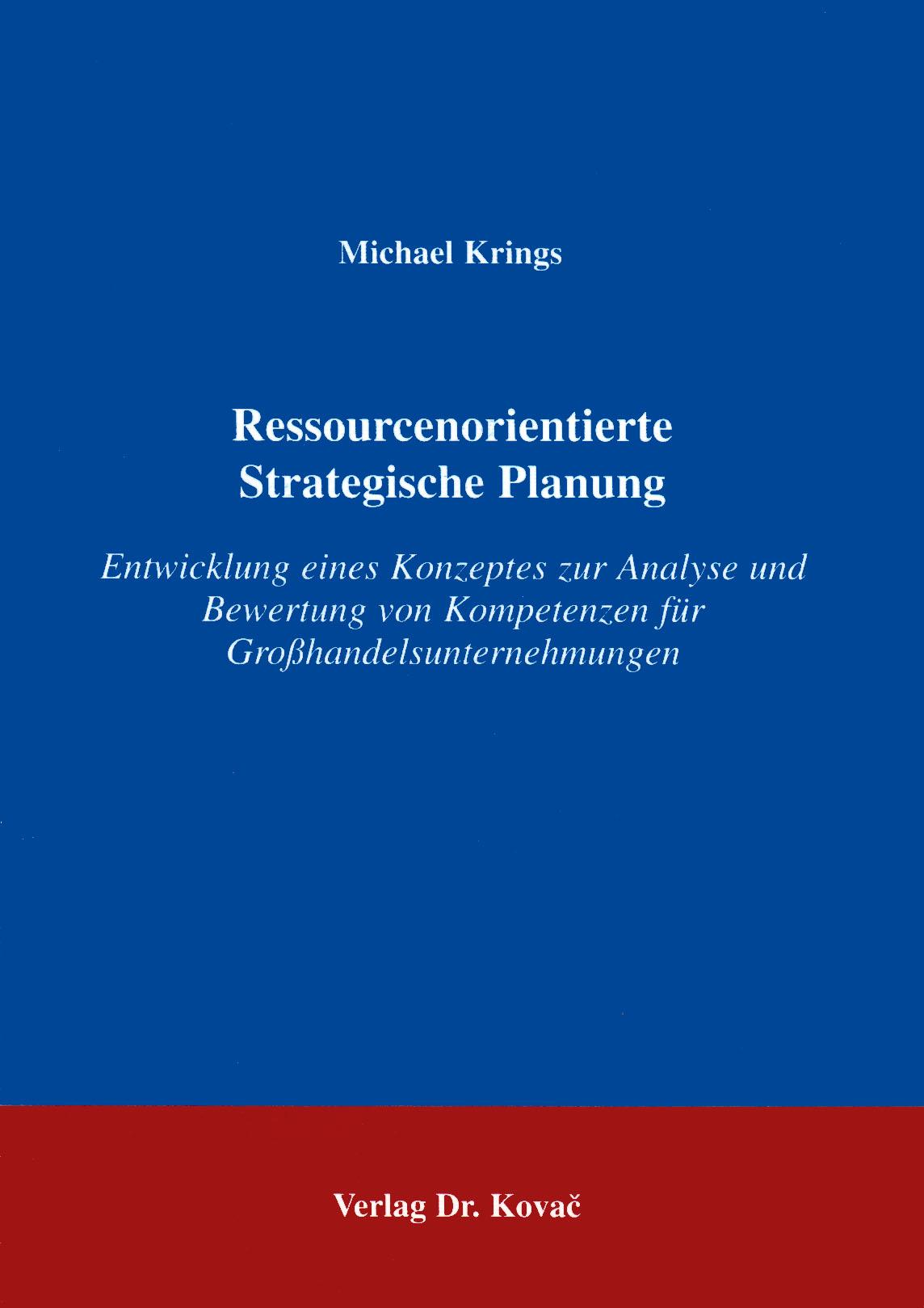 Cover: Ressourcenorientierte Strategische Planung