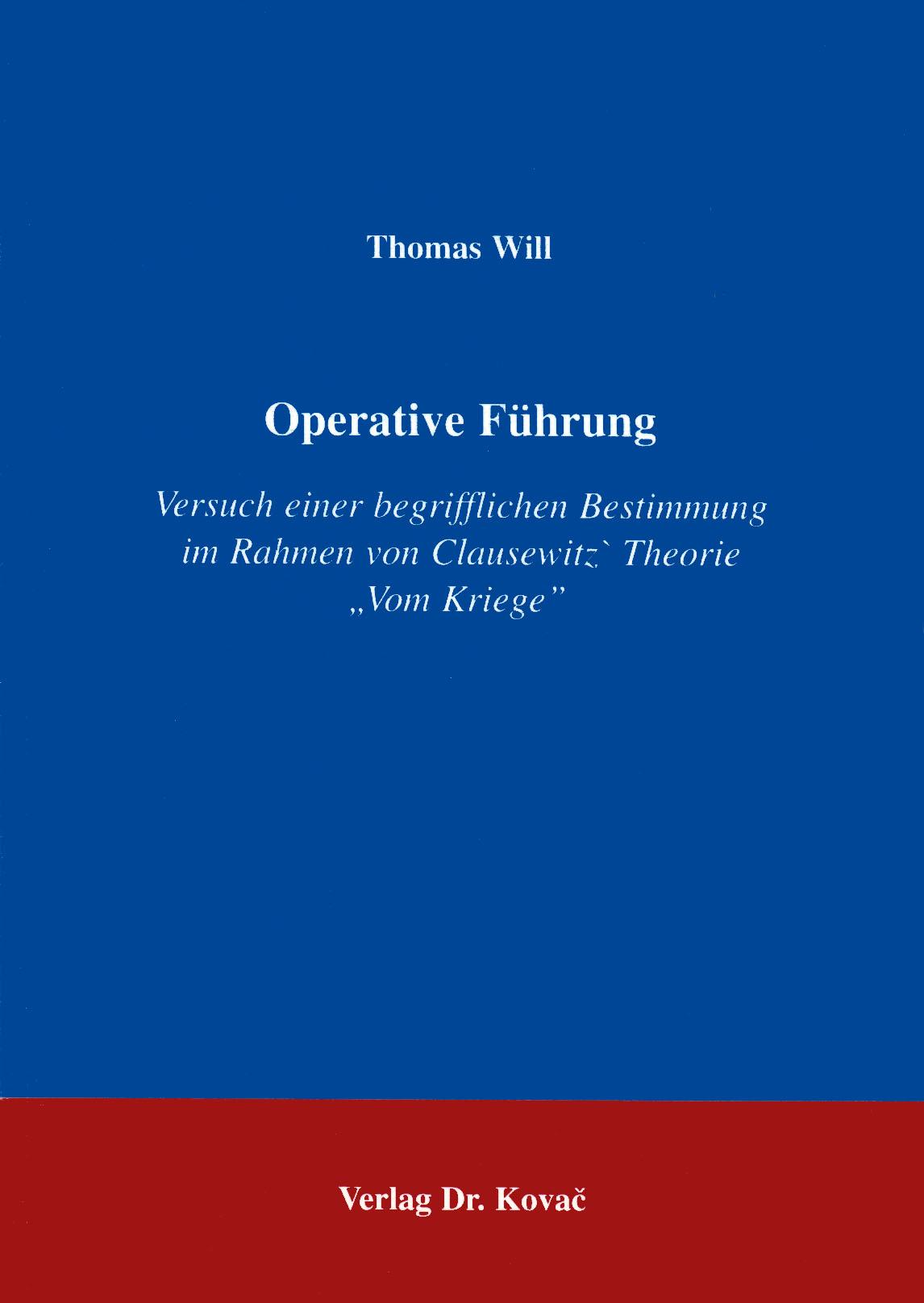 Cover: Operative Führung